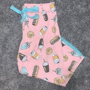 *free w purchase*Doughnut & Coffee Capri Pajamas